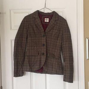 H&M Plaid Suit Jacket
